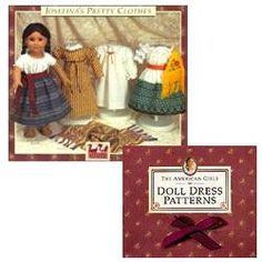 American Girl Doll patterns for Addy, Samantha, Felicity, Josefina, Kirsten, and Molly