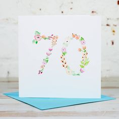 10 Best Floral Wreath Birthday Cards Images