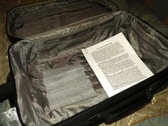 Luggage packing tips.