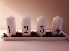Adventtikynttilät Christmas Inspiration, Pillar Candles, Taper Candles, Candles