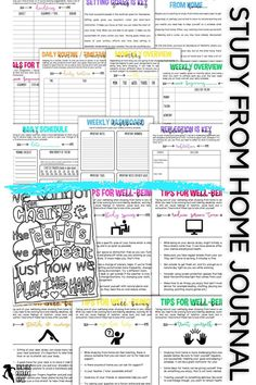 Help your students learn how to study from home with this self lead guide / journal that comes in both printable and digital options for your students. It comes with a 17 page printable journal for them to fill in, and there is a digital version available too for them to type directly into the document, should they prefer. You can post the journal or send it to your students remotely. Growth Mindset Display, Teaching Resources, Teaching Ideas, Life Skills Lessons, Growth Mindset Activities, Academic Goals, Responsive Classroom, Mental Health And Wellbeing, School Closures