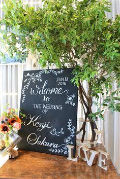 hanadouraku/花どうらく/ウェディング/Party /Wedding/decoration/http://www.hanadouraku.com/ナチュラル/ブラックボード