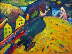 Paesaggio estivo (Case a Murnau): opera di Kandinsky