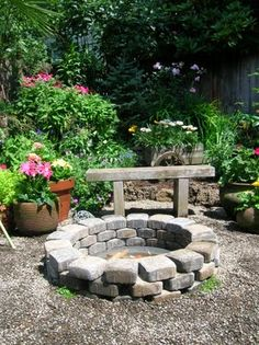 fire pit - I built two of these in my backyard - beautiful and fun for roasting hot dogs and marshmallows