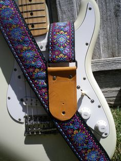 Purple Peacock Feathers Guitar Strap with by TheLittleThingsBySM, $49.00