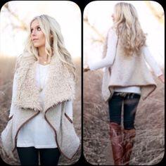 Cute furry vest! Trendy furry vest. Never worn!! Jackets & Coats Vests