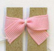 How to make  tiny baby or dog bows hairbow clip using template. Great idea, Why didn't I think of that?