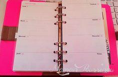 """DIY : Des semaines vierges et des fiches """"contacts"""" à imprimer pour vos agendas (Filofax) #2"""