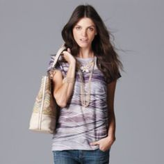 I have this and love it too! Simply Vera Vera Wang Print Windy Jacquard Tee - Women's