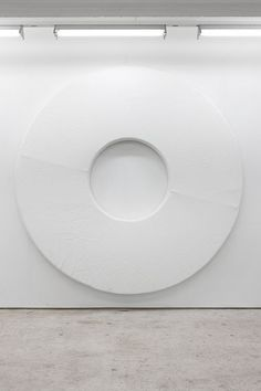 Gardar Eide Einarsson and Matias Faldbakken | Untitled,  2011 | Aluminum frame, foam and leatherette | Ø 300cm