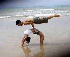 Full bridge and balance plank #yoga