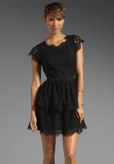 JOIE Kimare Lace Dress in Caviar at Revolve Clothing - Free Shipping!