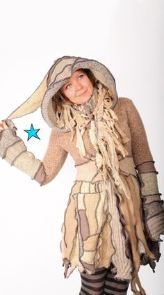 @Heather Noye >> Elf Coat by Katwise  Recycled Sweater TUTORIAL by katwise on Etsy, $9.00