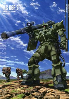 The MS-06F2 Zaku II F2 Type (also Zaku II Late production model) is a mass produced general purpose multi-class mobile suit and a variant of the original MS-06F Zaku II.