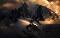 clouds mountains photography