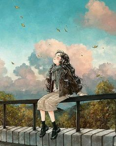 47 images about Diary dog forest girl on We Heart It Art And Illustration, Forest Girl, Anime Scenery, Anime Art Girl, Manga Girl, Anime Girls, Anime Comics, Marvel Comics, Aesthetic Art