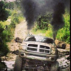 dodge ram cummins diesel rolling coal - Dodge Ram 1500 Lifted Mudding