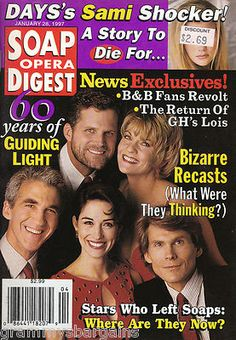 Soap Opera Digest January 28 1997 Guiding Light 60th Anniversary Kathleen Noone #soaps #soapoperadigest on ebay www.grammysbargains.com