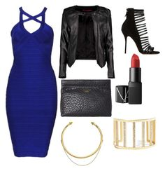 A fashion look from September 2015 featuring blue bodycon dress, quilted bomber jacket and heeled sandals. Browse and shop related looks. Guess By Marciano, Nars Cosmetics, Acne Studios, Boohoo, Fashion Looks, Cold, Shoe Bag, Clothing, Polyvore