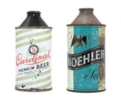 Vintage Beer Cans 1 Vintage Packaging Design Inspiration Vintage Packaging, Beer Packaging, Brand Packaging, All Beer, Wine And Beer, Vintage Beer Signs, Antique Signs, Beer Can Collection, Old Beer Cans