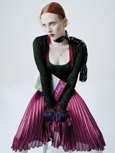 Karen Elson in 'Disco Jockey' by Tim Walker for Vogue Italia, December 2015.