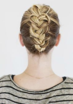 Try this braided bun and countless other hairstyles for spring.