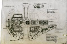 """""""Star Wars: The Blueprints,"""" by J.W. Rinzler has more than 250 technical drawings from all six movies so far, including for the Death Star, Jabba the Hutt's throne room and other pieces that needed to be designed and built accompanied by behind-the-scenes commentary and photos.  via wsj. Image from Lucasfilm Archives #Book #Star_Wars"""