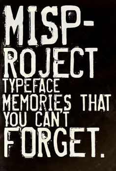 Misproject free font Eduardo Recife