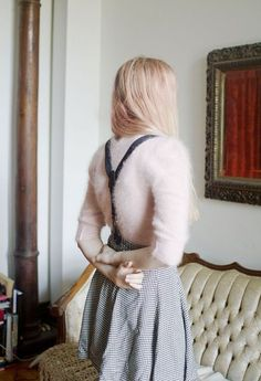 Fuzzy Sweater + Suspenders