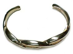 Valuable Bracelet Bloody Silver Twisted Solid Bangle New | Chrome Hearts Graduation Pendants