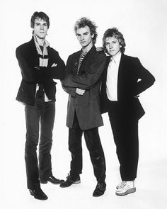 The Police.  They all rock, but Sting just takes the cake with his hair. Great…
