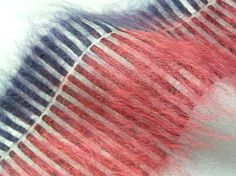 Brushed mohair floats by Laura Miles, Woven Studio, London. [wovenstudio.co.uk] © Laura Miles WOVEN studio