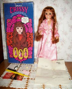 1971 Talking Crissy in her Original Outfit in Original Box with Accessories Brush #DollswithClothingAccessories