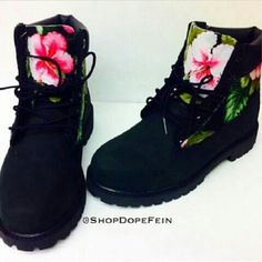 Temberlands Black Shoes Lace Up Boots