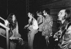 Janis and I standing at the edge of a stage in Memphis, waiting to go on: