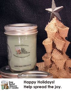 Christmas Tree Candle smells SO good. It's perfect for the holidays.  Our Candles range from a modest $4.50 to an ENORMOUS $125.00 See our wwebsite for details. Special Sale till December 5th 25% off #BlackFriday #SmallBusinessSaturday #CyberMonday www.soapbucketskincare.com