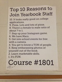 yearbook staff application essay