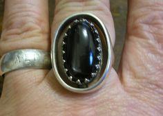 Handmade Ring Natural Black Star Enstatite Sterling by HighArt