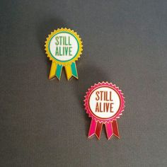 Still Alive Award Enamel Pin / Hard Enamel Pin Badge / Lapel Pin / Tie Pin…