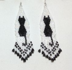 Hey, I found this really awesome Etsy listing at https://www.etsy.com/listing/195626349/black-cat-beaded-earrings-with-fringe