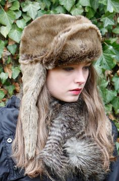 9079045af02 Raccoon Tippet worn with our Wold Trapper Hat Faux Fur Autumn Winter 2013  Fashion AW13 Ruby+Ed www.rubyanded.co.uk