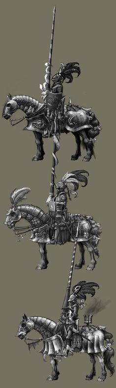 Knights Medieval Knight, Medieval Armor, Medieval Fantasy, Warhammer Empire, Warhammer Fantasy, Armor Concept, Concept Art, Armadura Medieval, Knight Art