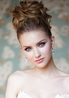 brides with high updos | high bun wedding hairstyle