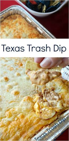 Texas Trash Dip An Affair from the Heart #pastafoodrecipes Dip Appetizers, Easy Appetizer Dips, Easy Party Dips, Camping Appetizers, Mexican Appetizers Easy, Party Snacks, Mexican Potluck, Taco Bar Party, Appetizer Recipes