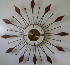Starburst Sunburst Welby Eames Atomic Mid Century Wall Clock 1950 1960 Era Vtg | eBay