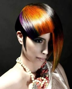 Take a peek at these stylish Punk hair color ideas and make sure you're ready for the most dramatic makeover. Use these vibrant hues to inject some definition and glamor into your look. Punk Hair Color, Cool Hair Color, Hair Colors, Rainbow Hair Highlights, Curly Hair Styles, Natural Hair Styles, Funky Hairstyles, Fantasy Hairstyles, Latest Hairstyles