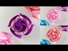 สอนพับเหรียญโปรยทานอย่างง่าย ลายน่ารัก ดอกนางแย้มแบบใหม่ .. Ribbon Art - YouTube Diy Lace Ribbon Flowers, Ribbon Art, Diy Ribbon, Ribbon Crafts, Flower Crafts, Crochet Flowers, Fabric Flowers, Paper Flowers, Diy Crafts
