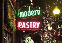 Modern Pastry on Hanover St. in the North End, Boston