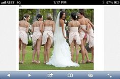 Ugly bridesmaid dresses.