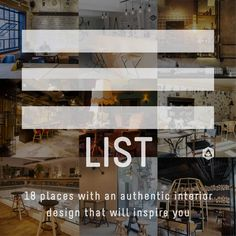 LIST: 18 places with authentic interior design that will inspire you